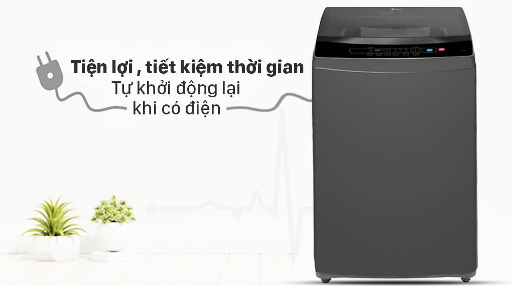 Máy giặt Casper 8.5 kg WT-85N68BGA - Tự khởi động