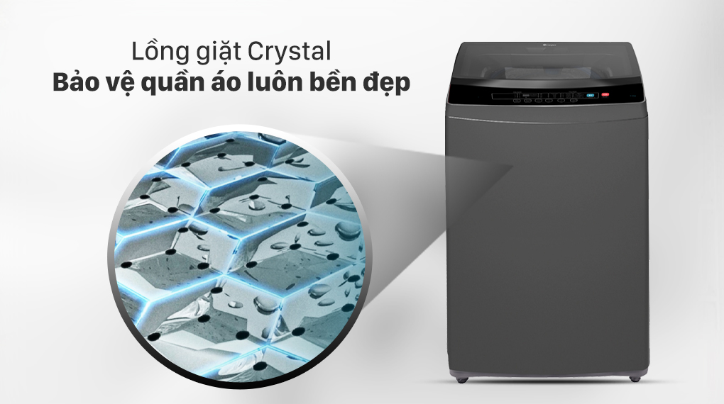 Máy giặt Casper 8.5 kg WT-85N68BGA - Lồng giặt Crystal