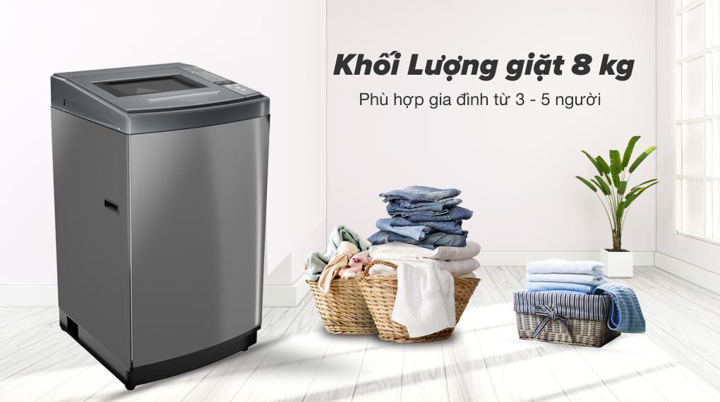 Máy giặt Aqua 8 KG AQW-KS80GT S - Khối lượng giặt 8 kg