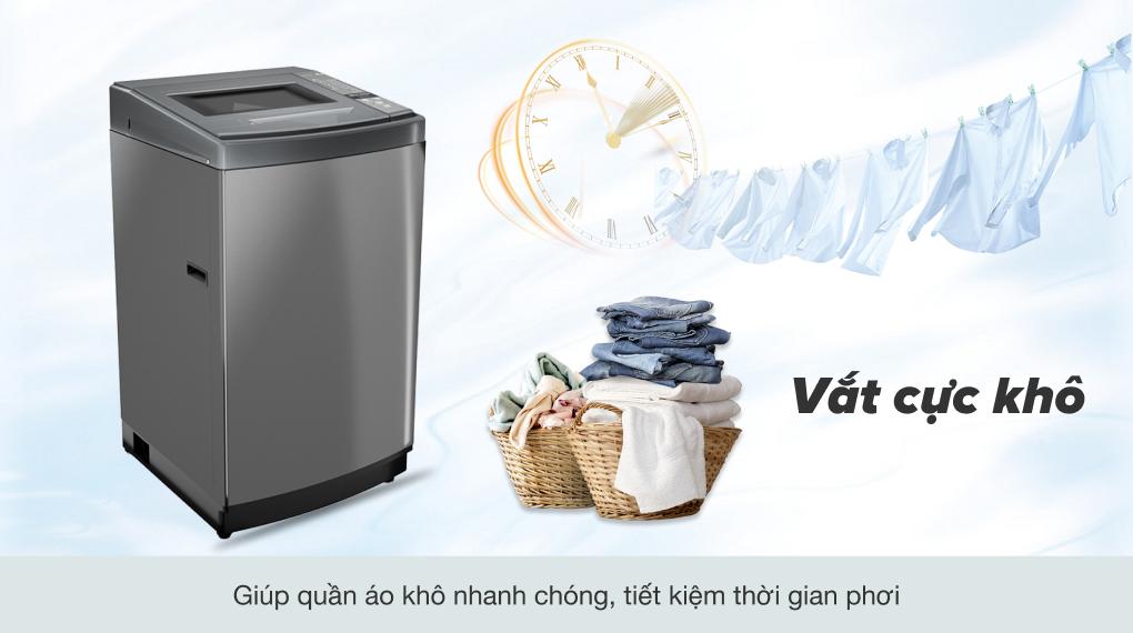 Máy giặt Aqua 8 KG AQW-KS80GT S- Vắt cực khô