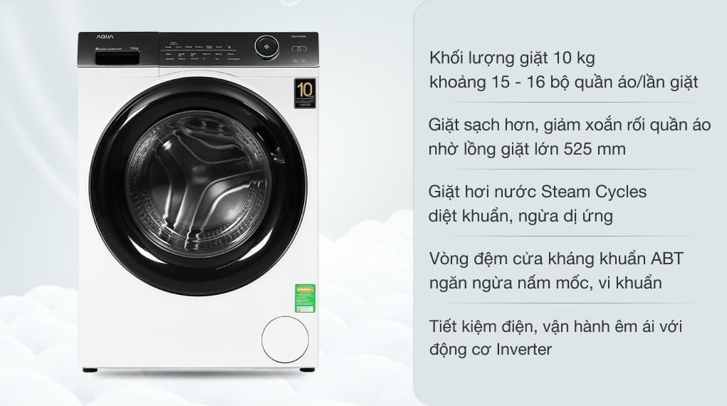 Máy giặt Aqua Inverter 10 KG AQD-A1000G W