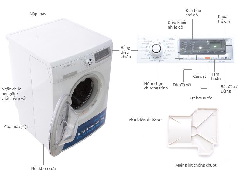 Thông số kỹ thuật Máy giặt Electrolux EWF10831 8kg
