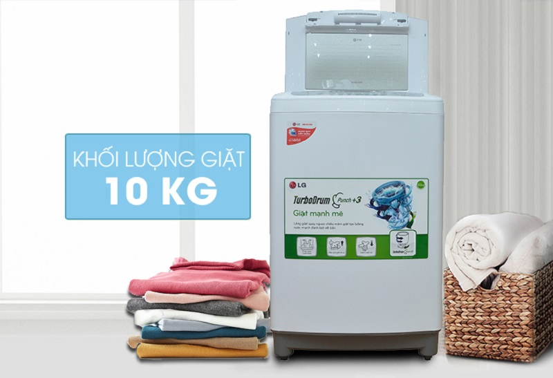 Sở hữu thiết kế nhỏ gọn, máy giặt LG WF-S1015TT sẽ dễ dàng được đặt tại mọi nơi trong căn nhà bạn