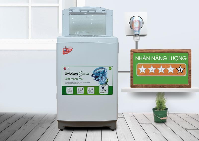 Máy giặt LG WF-S1015TT có khả năng tiết kiệm điện cao