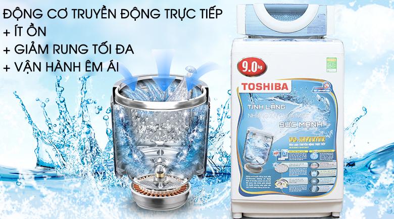 Động cơ truyền trực tiếp - Máy giặt Toshiba Inverter 9kg AW-DC1005CV