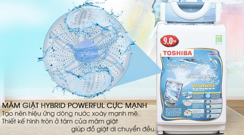 Mâm giặt Hybrid powerful - Máy giặt Toshiba Inverter 9kg AW-DC1005CV