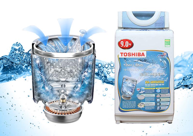 Máy giặt Toshiba AW-DC1005CV có lồng giặt ngôi sao pha lê