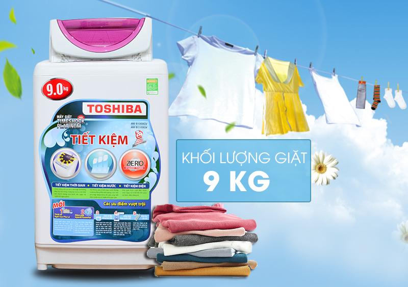 Được thiết kế sang trọng và gọn gàng, máy giặt Toshiba AW-B1000GV sẽ mang đến sự hiện đại hơn cho căn nhà của bạn