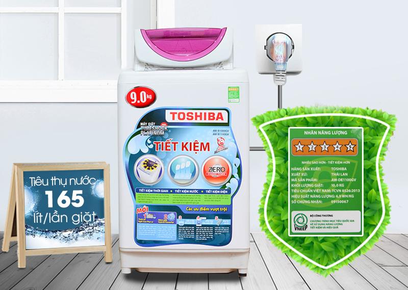 áy giặt Toshiba AW-B1000GV có khả năng tiết kiệm điện và nước