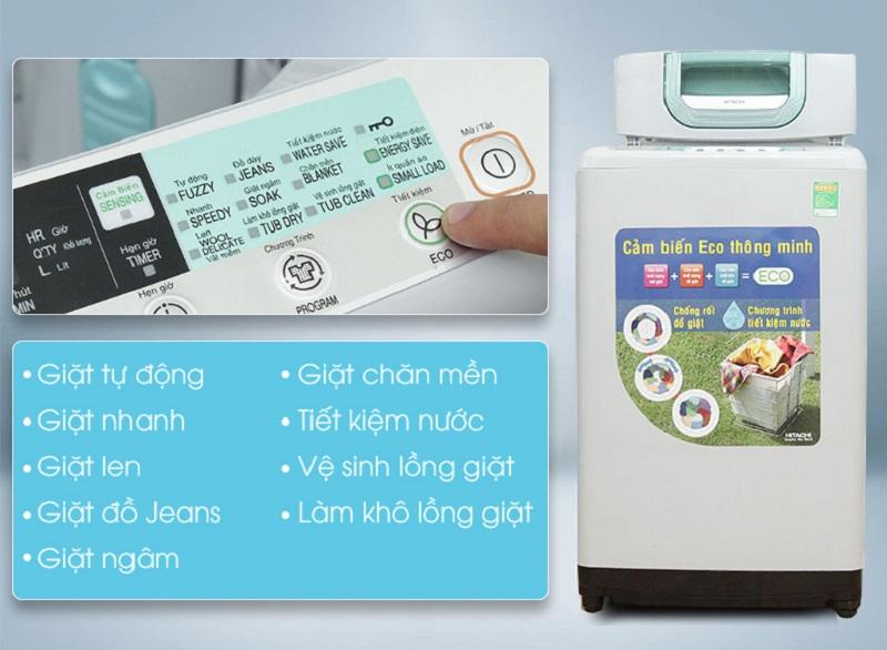 Với nhiều chương trình giặt khác nhau, người sử dụng sẽ có thêm đa dạng lựa chọn cho các chế độ làm sạch quần áo cho mỗi lần giặt ở máy giặt Hitachi SF-80P