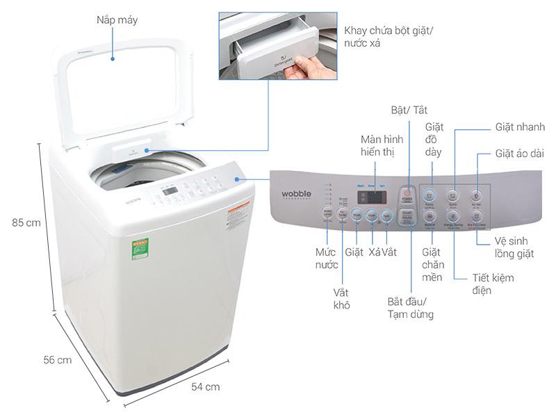Thông số kỹ thuật Máy giặt Samsung 7.2 kg WA72H4200SW/SV