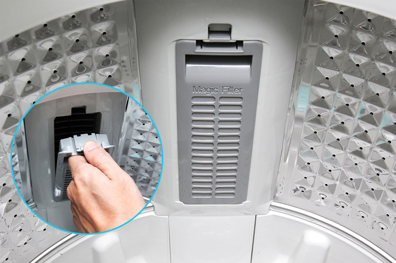 Ngăn chặn nguy cơ tắc nghẽn ống xả với bộ lọc xơ vải Magic Filter