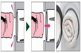 Cửa lồng giặt rộng