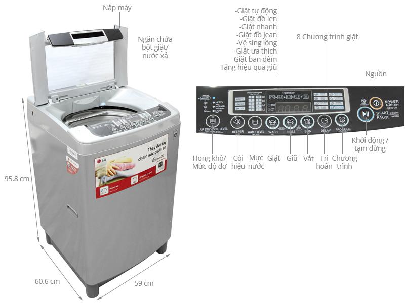Thông số kỹ thuật Máy giặt LG 11 kg WF-D1119DD