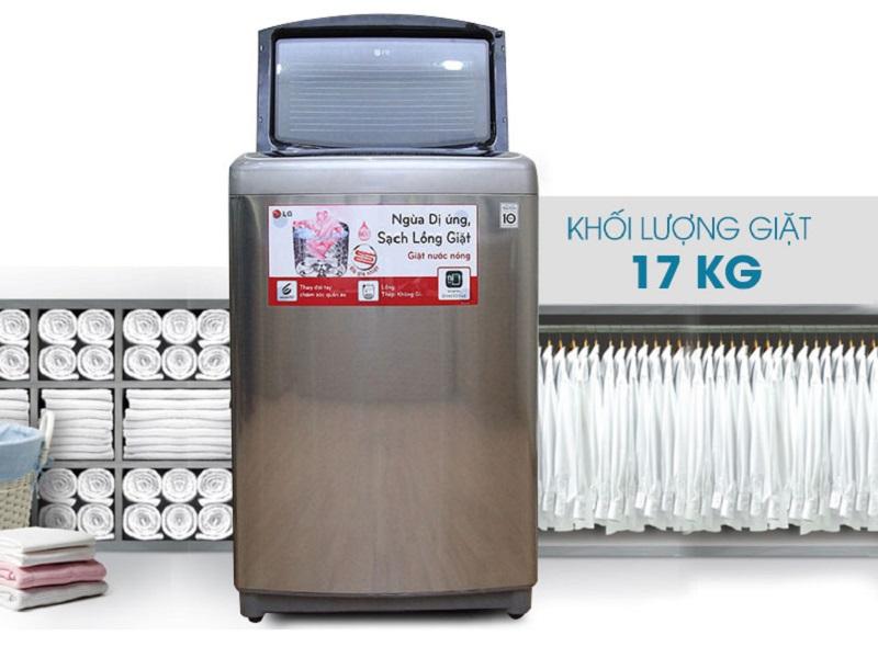 Máy giặt LG WF-D1717HD sở hữu thiết kế hiện đại với đường nét tinh tế