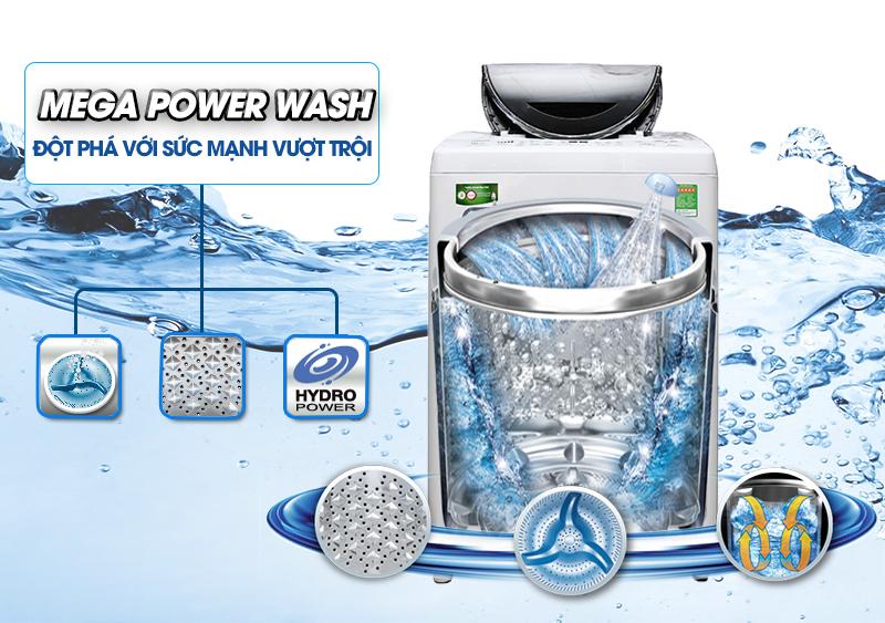 Máy giặt Toshiba AW-DC1300WV có mâm giặt Mega Power 3 cánh độc đáo