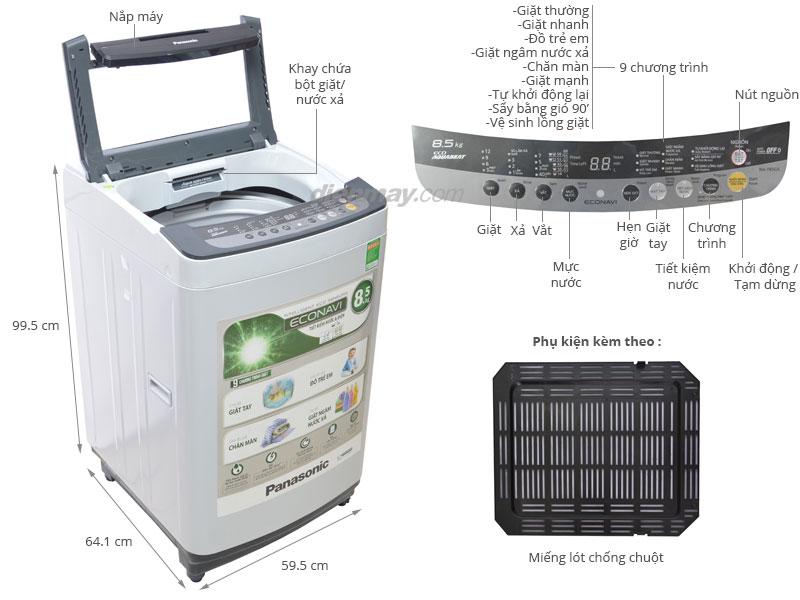 Thông số kỹ thuật Máy giặt Panasonic NA-F85G5HRV 8.5kg
