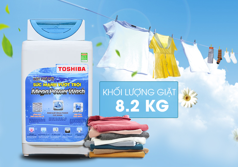 Máy giặt Toshiba AW-E920LV được thiết kế độc đáo cùng gam màu khá lạ mắt