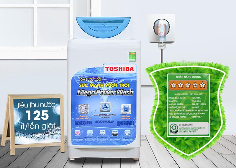 Máy giặt Toshiba AW-E920LV có khả năng tiết kiệm điện và nước tối ưu