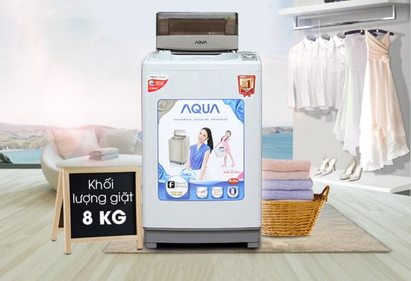 Sở hữu thiết kế độc đáo, máy giặt AQUA AQW-S80KT hứa hẹn có thể mang đến sự sang trọng và đẳng cấp cho nhà bạn