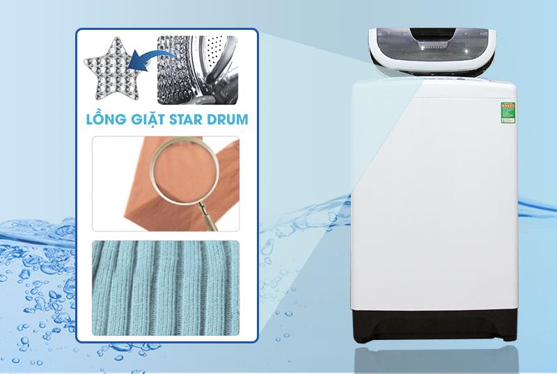 Lồng giặt Star Drum kháng khuẩn, giảm sờn vải