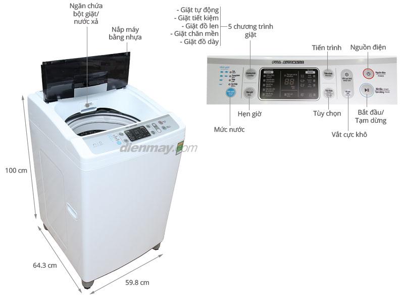 Thông số kỹ thuật Máy giặt Sharp 10kg ES-S1000EV