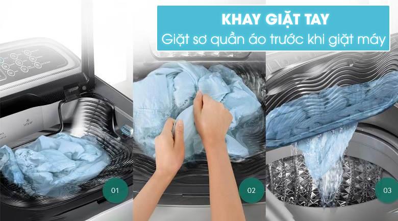 Khay giặt tay tích hợp