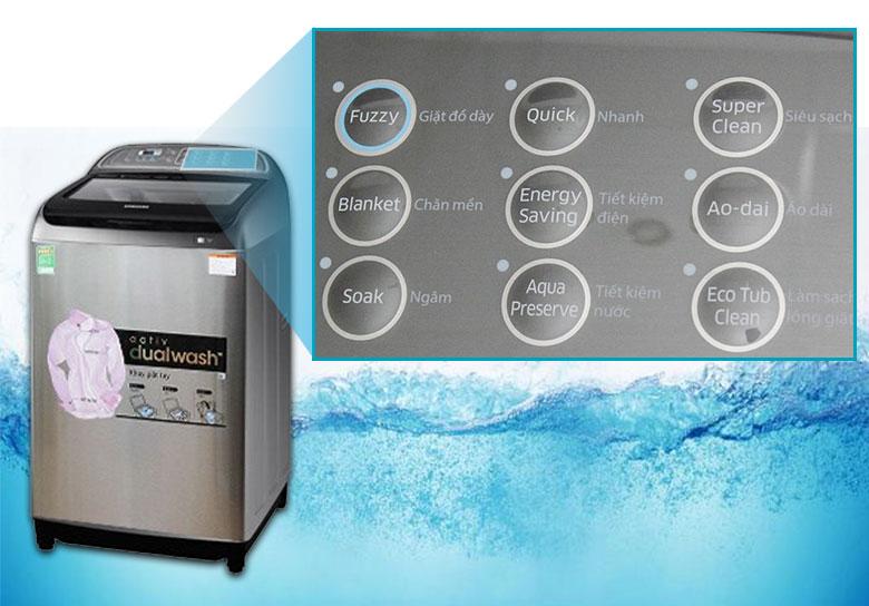 9 chế độ giặt đa dạng, dễ chọn lựa