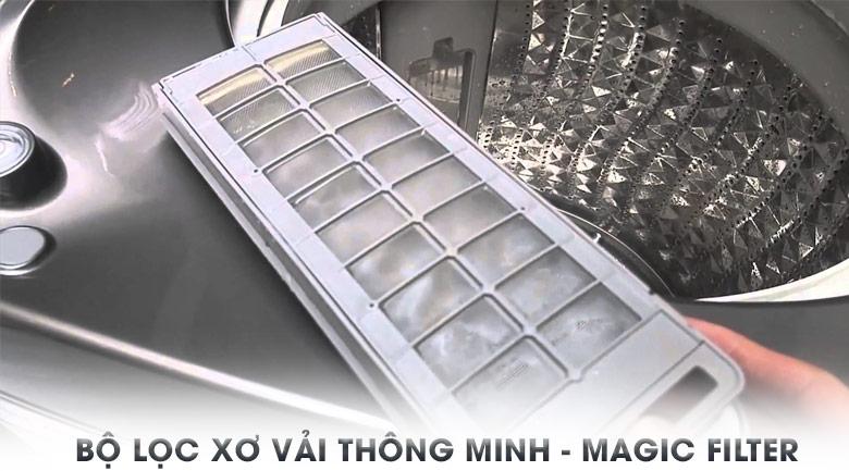 Bộ lọc xơ vải hiệu quả - Máy giặt Samsung Inverter 14 Kg WA14J6750SP/SV