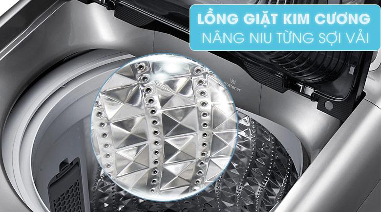 Lồng giặt kim cương - Máy giặt Samsung Inverter 14 Kg WA14J6750SP/SV