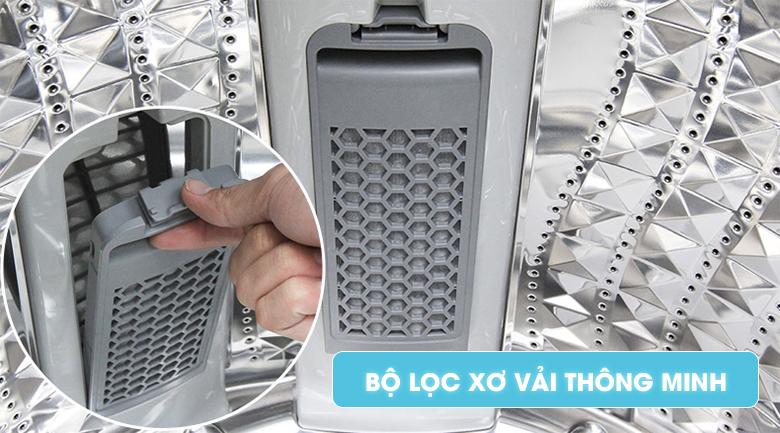 Bộ lọc xơ vải tiện dụng - Máy giặt Samsung Inverter 16 kg WA16J6750SP/SV
