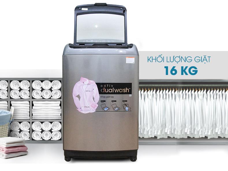Máy giặt Samsung WA16J6750SP/SV - Máy giặt mới với mâm giặt tay độc đáo