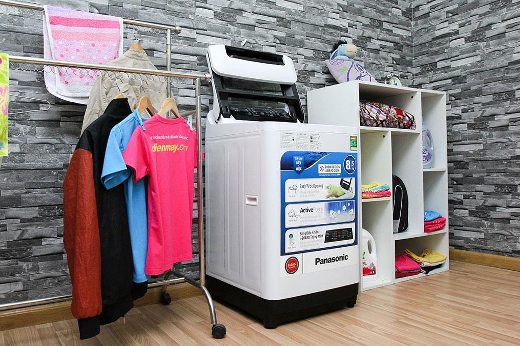Máy giặt Panasonic NA-F85A1WRV 8.5 Kg – Máy giặt công nghệ Active Foam giặt sạch mạnh mẽ