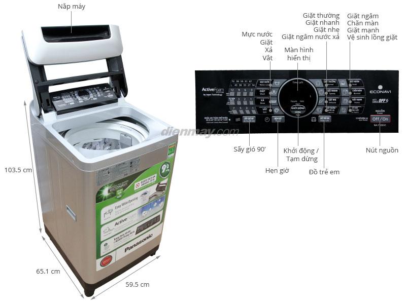 Thông số kỹ thuật Máy giặt Panasonic NA-F90X1LRV 9.0 Kg
