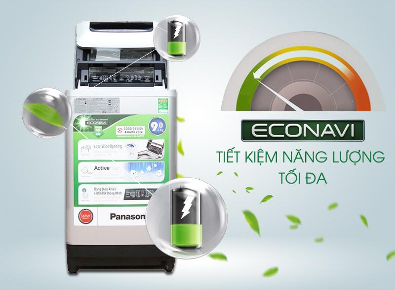 Cảm biến Econavi giúp tiết kiệm điện, nước và thời gian giặt giũ