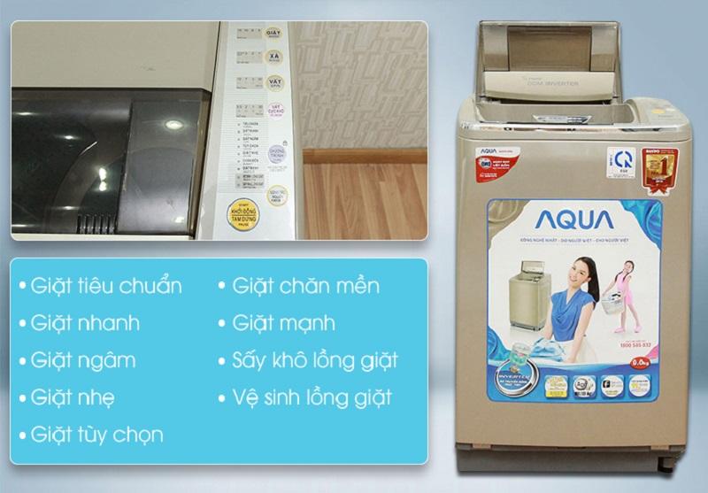 Nhiều chương trình giặt khác nhau của máy giặt Aqua AQW-DQ900HT sẽ hỗ trợ cho bạn tùy chỉnh được chế độ giặt khác nhau