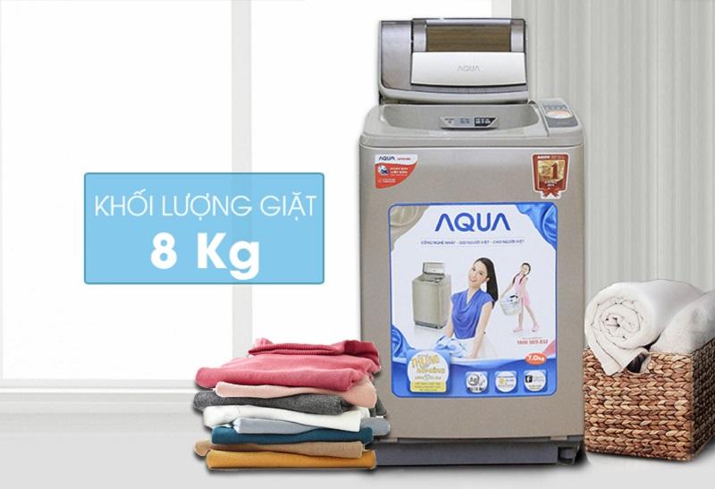 Có thiết kế mới lạ và đẹp mắt, máy giặt Aqua AQW-U800Z1T hứa hẹn mang đến cho nội thất căn nhà bạn sự độc đáo và tươi mới
