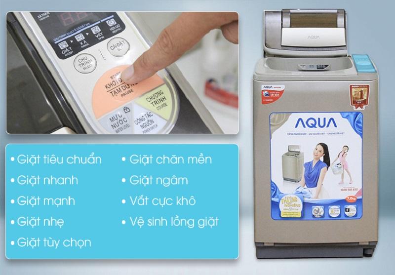 Đa dạng các chương trình giặt khác nhau đem lại nhiều lựa chọn cho người dùng, nhờ đó bạn sẽ dễ tùy chỉnh các chế độ phù hợp cho mỗi lần sử dụng máy giặt Aqua AQW-U800Z1T hơn
