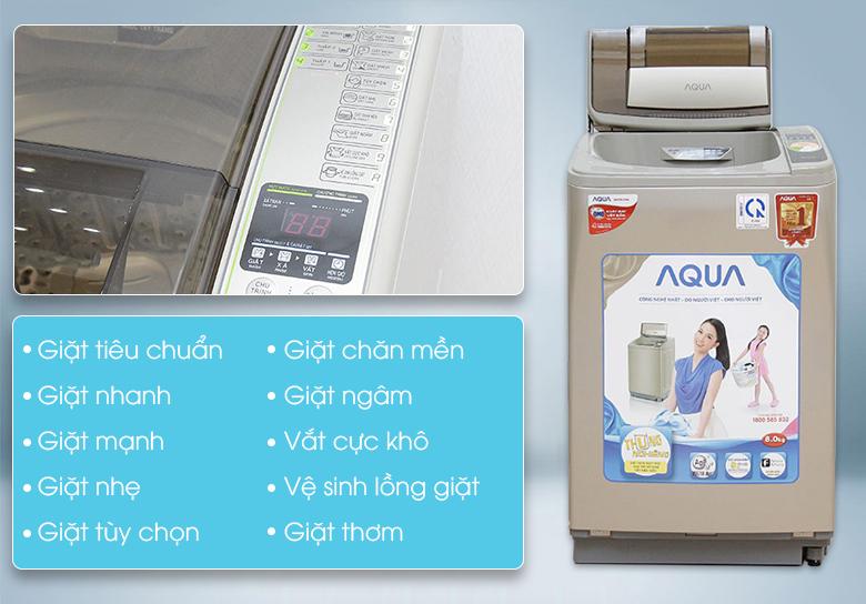 9 chương trình giặt tự động