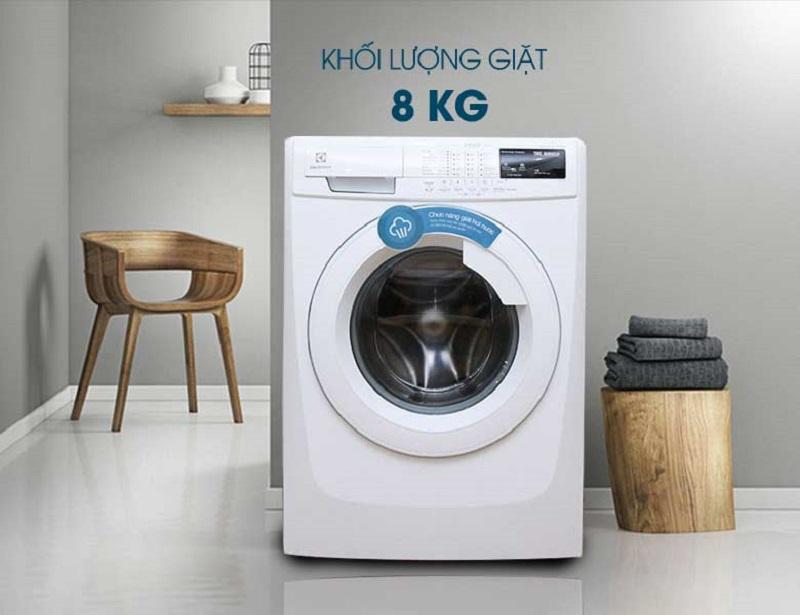 Máy giặt Electrolux EWF10843 được thiết kế trang nhã với sắc trắng tinh tế