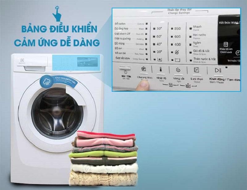Nhờ IQ Touch, máy giặt Electrolux EWF10843 sẽ dễ dàng sử dụng hơn