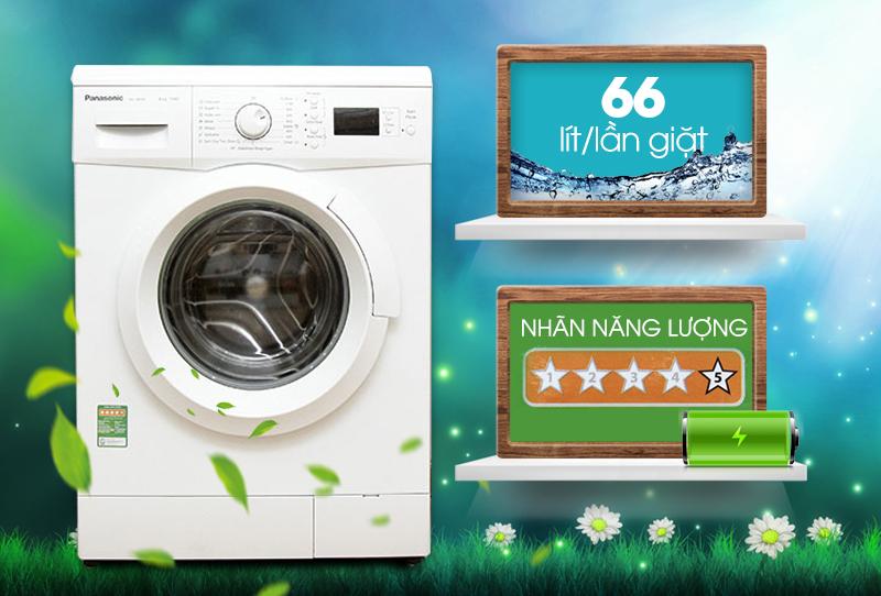 Với khả năng tiết kiệm điện năng cao, máy giặt Panasonic NA-108VK5WVT sẽ giặt áo quần thật tốt nhưng vẫn đảm bảo không hao phí điện năng