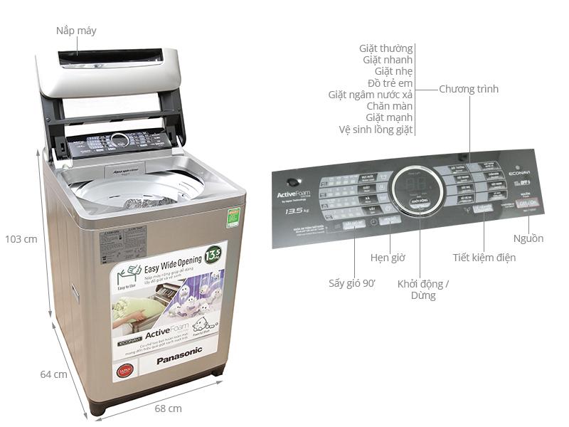 Thông số kỹ thuật Máy giặt Panasonic 13.5 kg NA-F135X1SRV