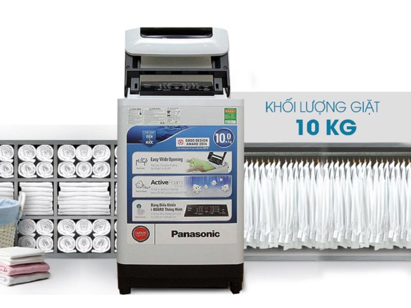Máy giặt Panasonic NA-F100A1WRV là một sản phẩm có tính thẩm mỹ cao với kiểu dáng gọn gàng