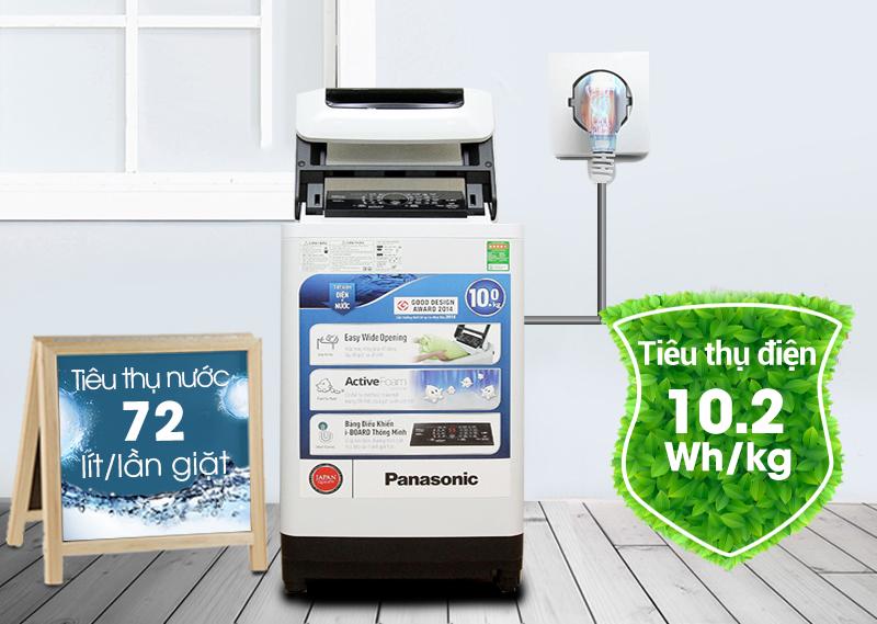 Máy giặt Panasonic NA-F100A1WRV không chỉ sở hữu những công nghệ giặt giũ ưu việt, mà còn có khả năng tiết kiệm nước và điện cao