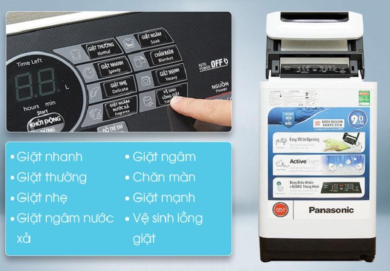 Để đảm bảo quần áo được giặt sạch và bảo vệ tối ưu, đồng thời tiết kiệm chi phí điện, nước, Panasonic đã thiết lập sẵn 8 chương trình giặt tự động