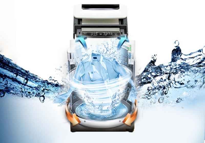 Công nghệ sấy bằng khí của máy giặt Panasonic NA-F90A1WRV đảm bảo tốc độ sấy nhanh