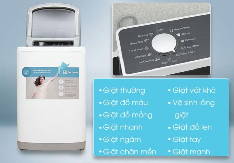 Với nhiều chương trình giặt, người dùng sẽ dễ dàng tùy chỉnh chế độ của máy giặt Electrolux EWT8541