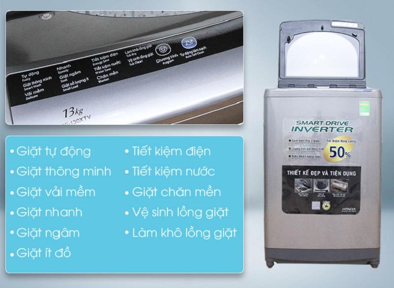Số lượng lớn các chương trình giặt của máy giặt Hitachi SF-130XTV đem lại cho người dùng nhiều tùy chọn hơn