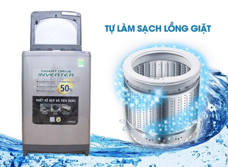 Máy giặt Hitachi SF-130XTV với công nghệ Auto Self Clean tự làm sạch lồng giặt